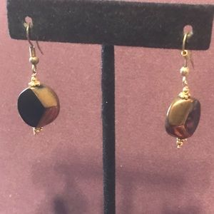 Small Bronze black earrings.  3/$12 Sale